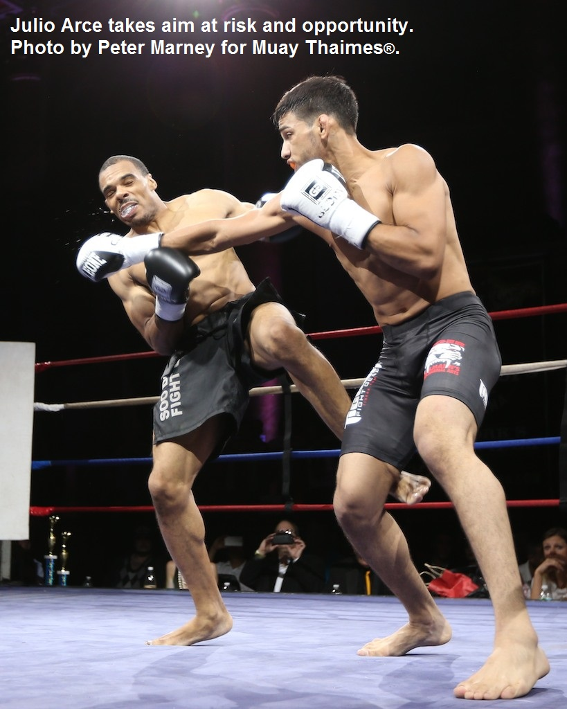 Julo Arce (right) vs. Brian Burgan.