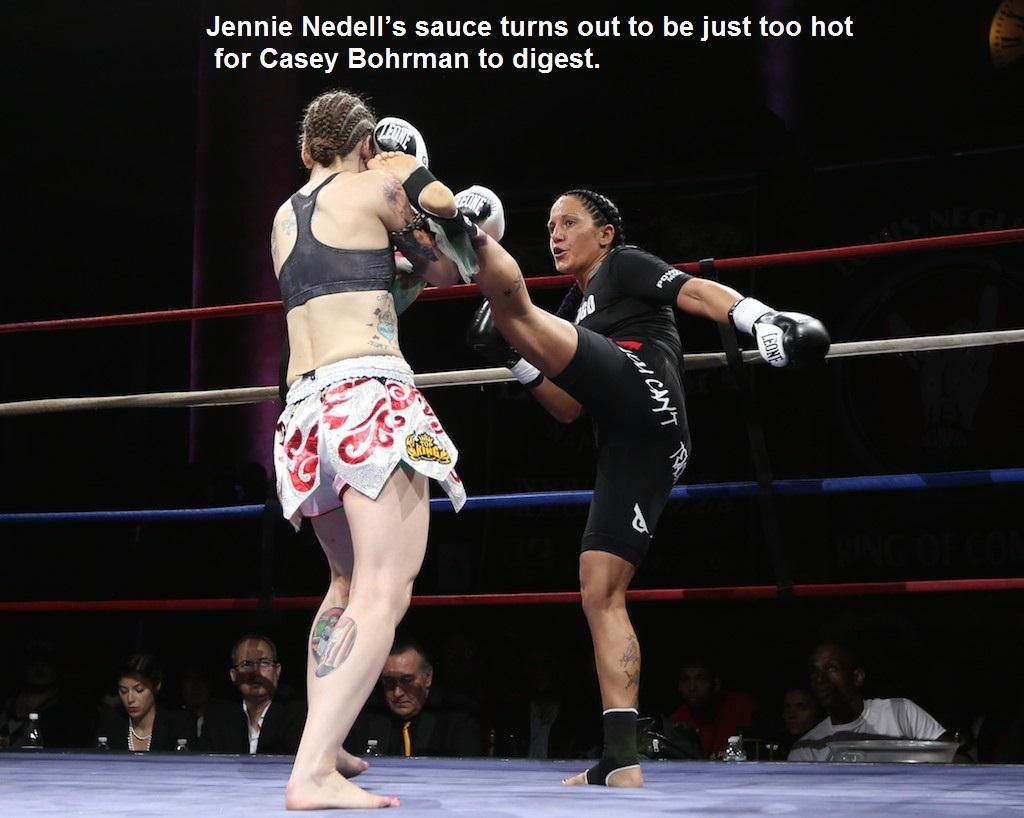 Jennie Nedell (right) vs. Casey Bohrman.