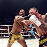 Joe Schilling (right) vs. Simon Marcus at Glory 17 in L.A. on June 21, 2014