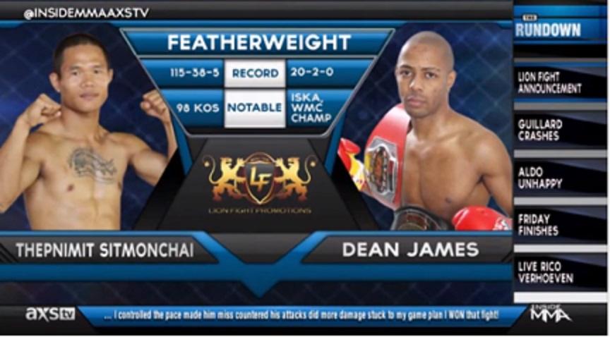 Thepnimit Sitmonchai vs. Dean James at Foxwoods