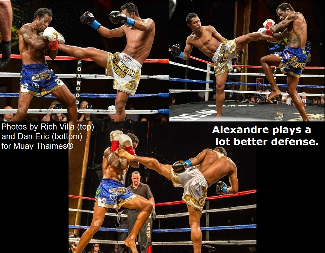 Alexandre plays a lot better defense