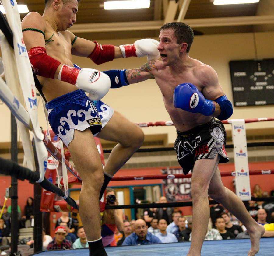 Adam McCain (right) vs. Youyung Cho. Photo by Dan Eric.