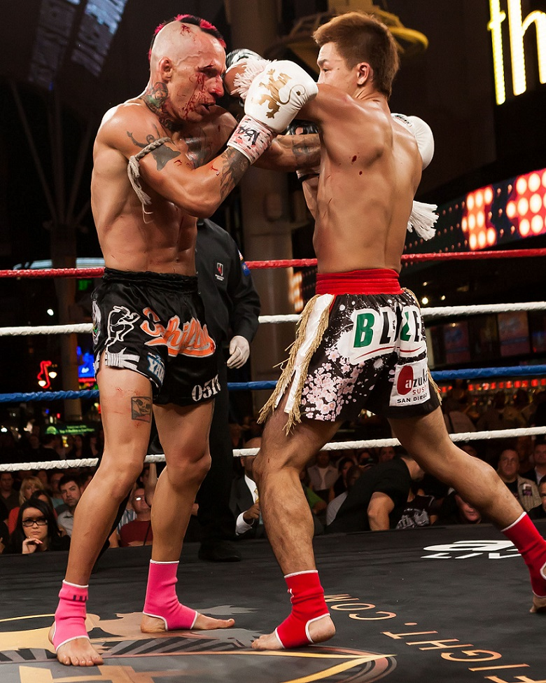 Tetsuya Yamato vs. Kevin Ross at Lion Fight XI in Las Vegas on September 20, 2013.  Photo by Bennie E. Palmore II for Muay Thaimes®.