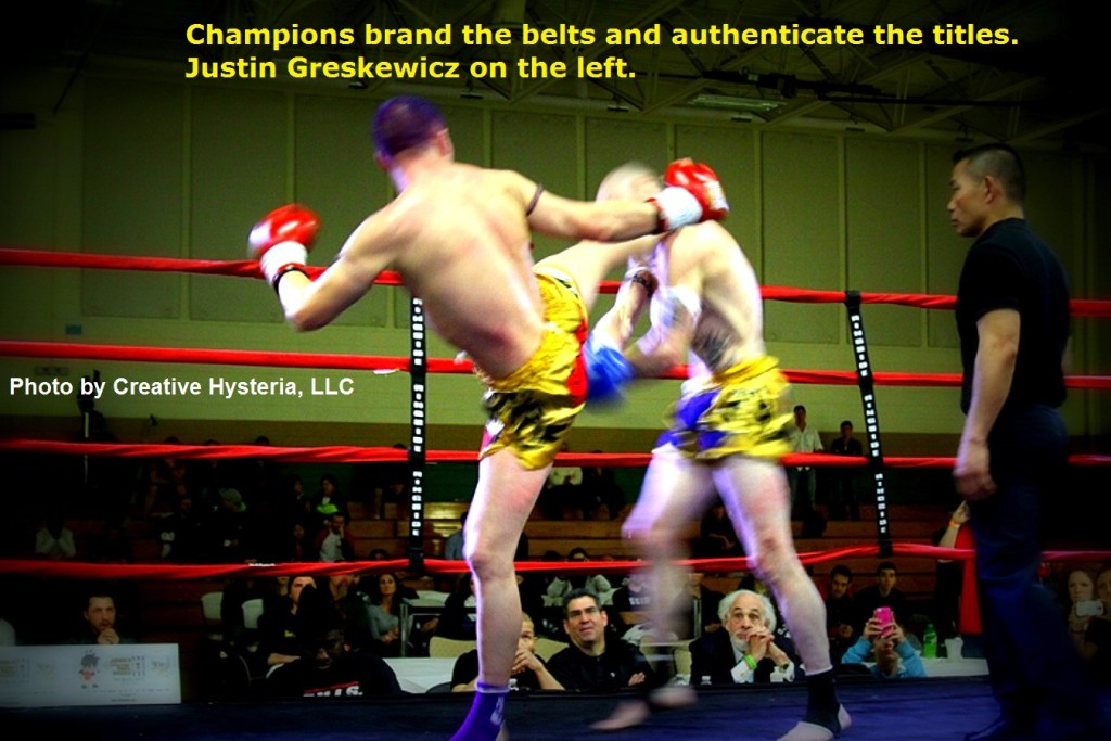 Champions brand the belts and authenticate the titles