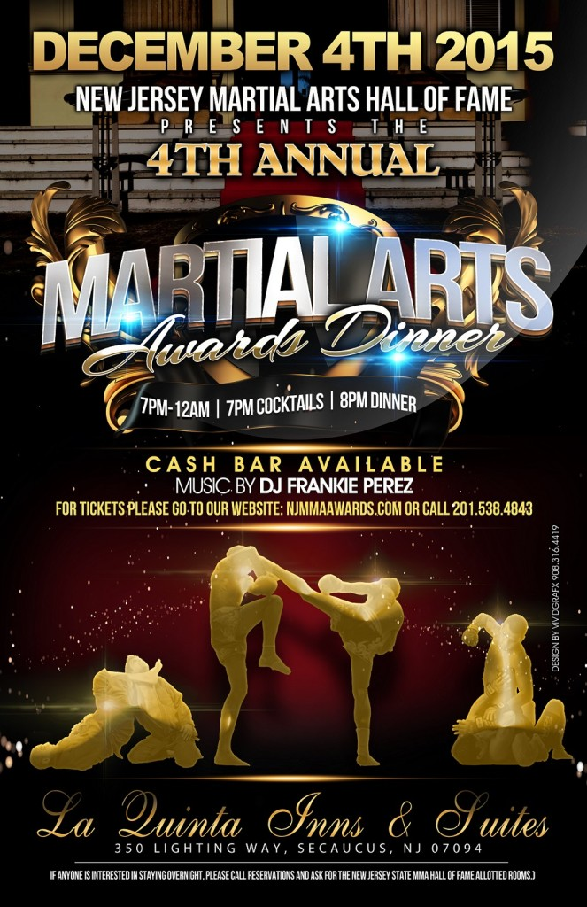 New Jersey State Martial Arts Hall of Fame Poster 2015