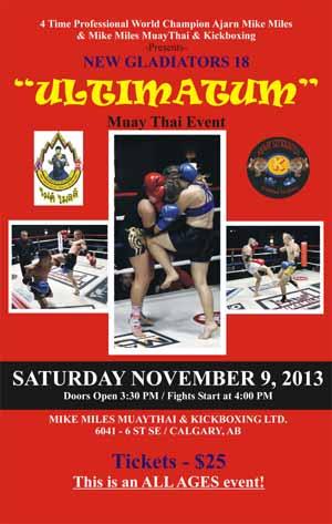 Ultimatum Muay Thai Poster