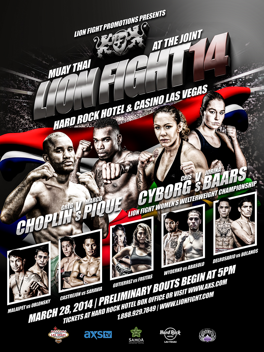 Lion Fight 14 Flyer