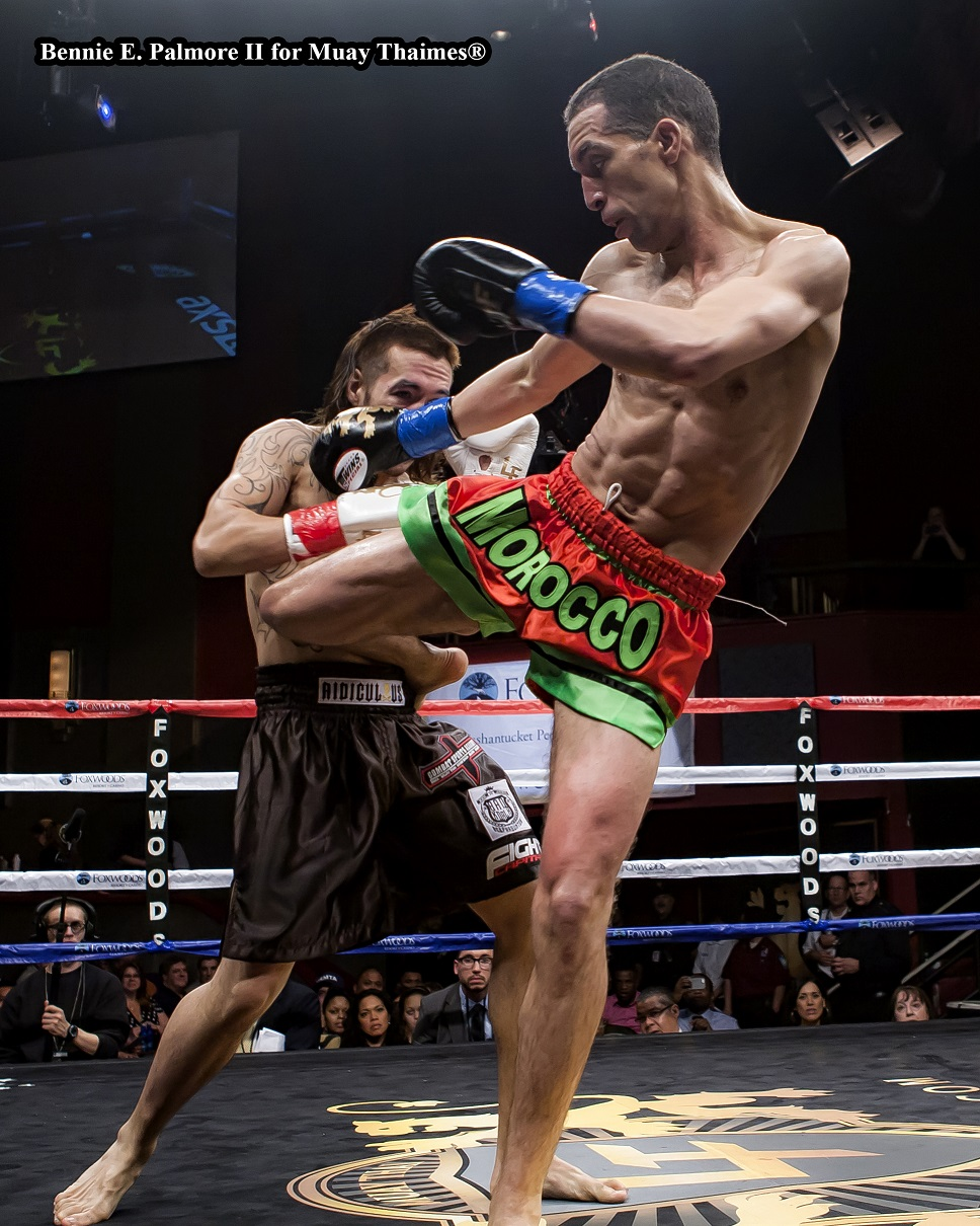Mohammed Lemjerdine (Sitan Gym in Astoria – New York City) def. Jason Andrada (Fight Capital in Las Vegas, Nevada) by Unanimous Decision:  48-47, 48-45, 50-46.  Professional 125 lbs. Men.  5 x 3 Rounds.  Photo by Bennie E. Palmore II.