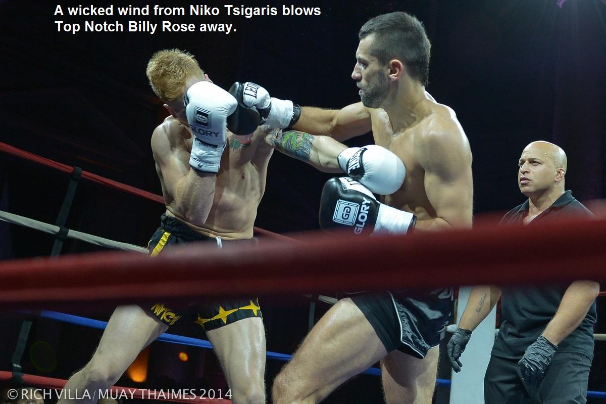 Niko Tsigaris (right) vs. Billy Rose.