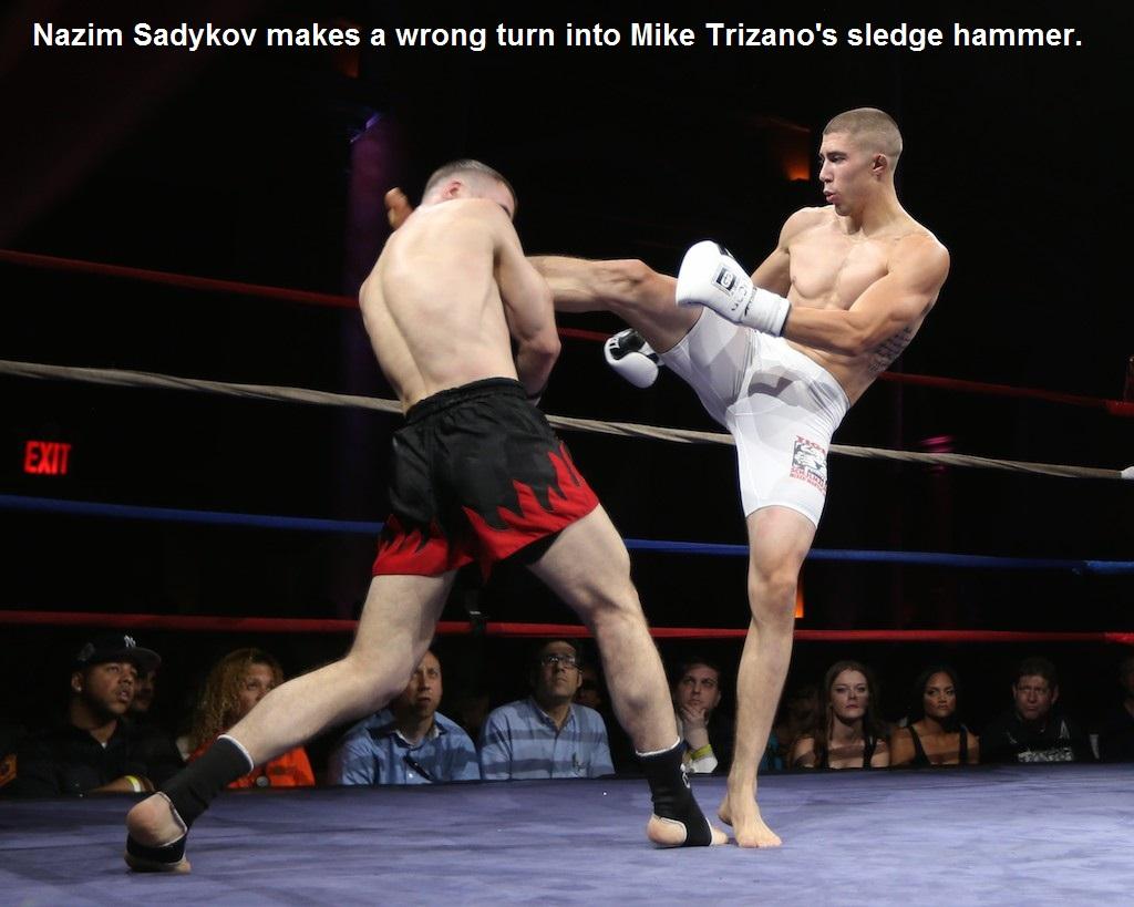 Mike Trizano (right) vs. Nazim Sadykov.