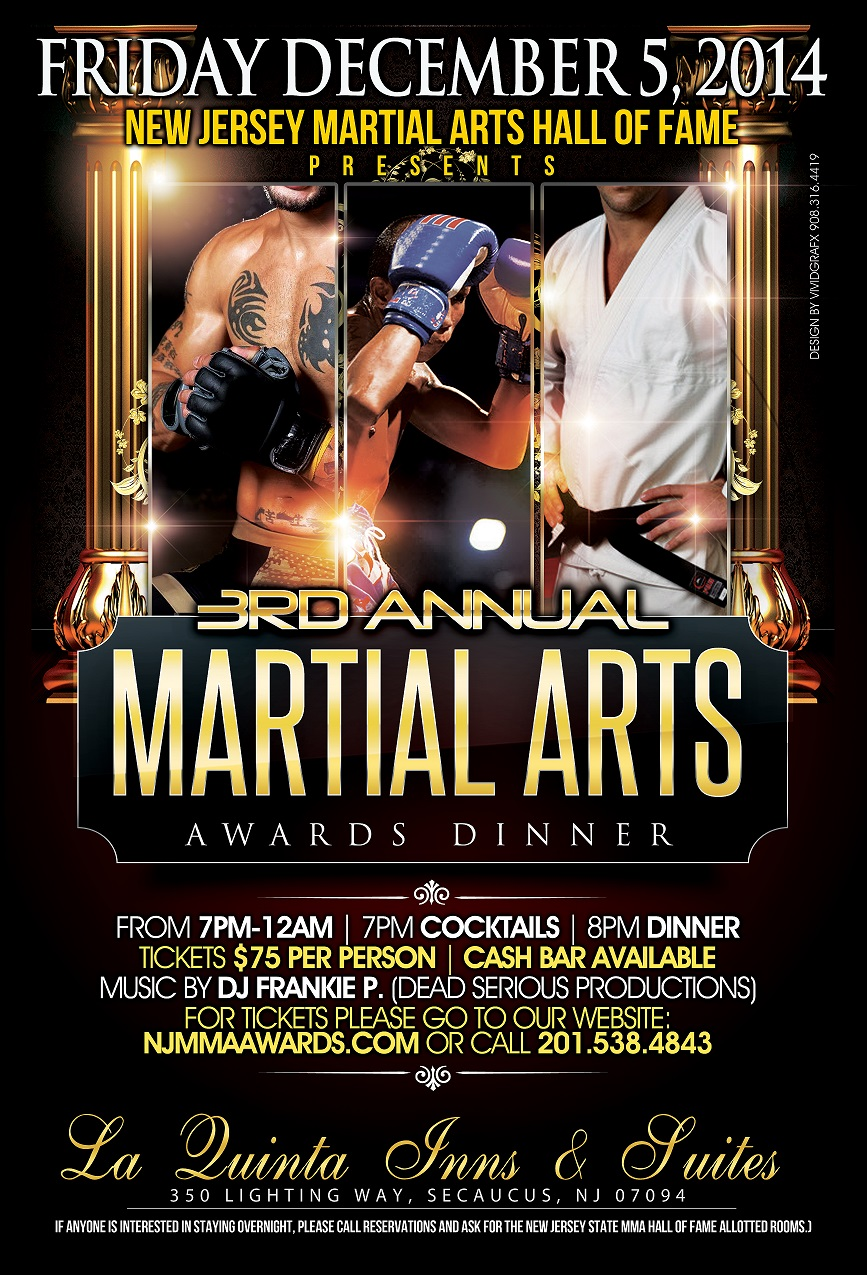 New Jersey Martial Arts Hall of Fame 2014 Poster