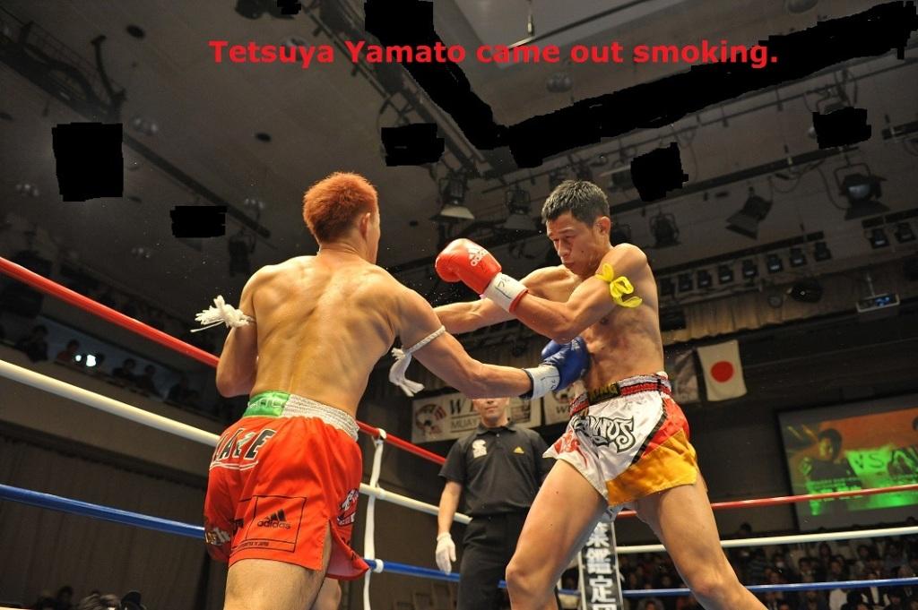 Tetsuya Yamato came out smoking