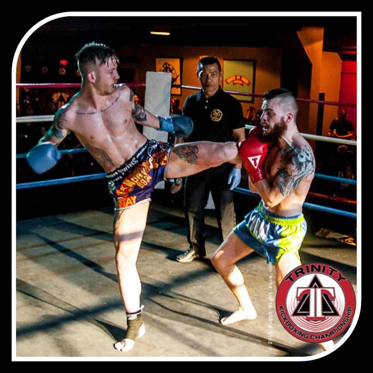 Joe Logan on the left.  Photo by Friday Night Pics (Chastity Cortijo) for Muay Thaimes®.