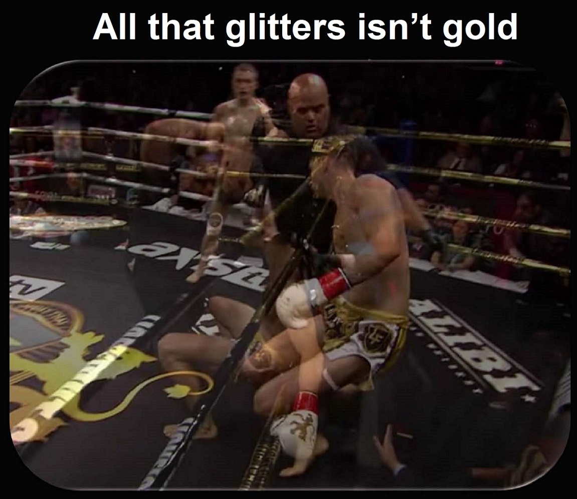 All that glitters isn't gold
