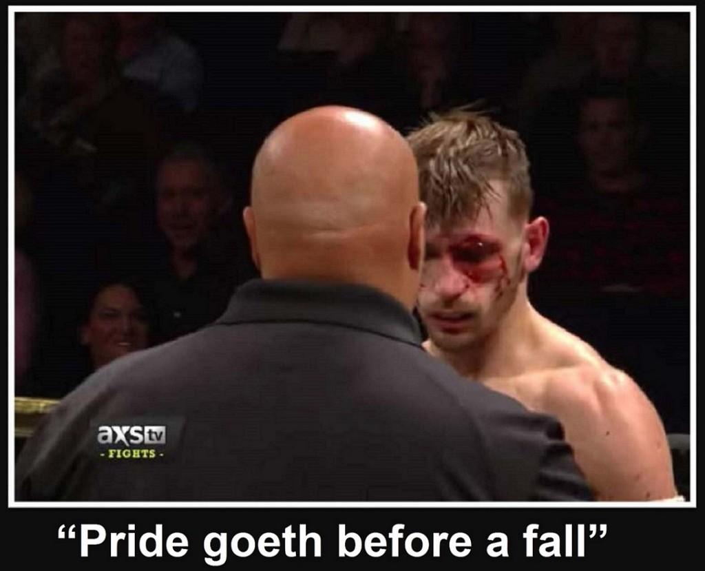 Pride goeth before a fall